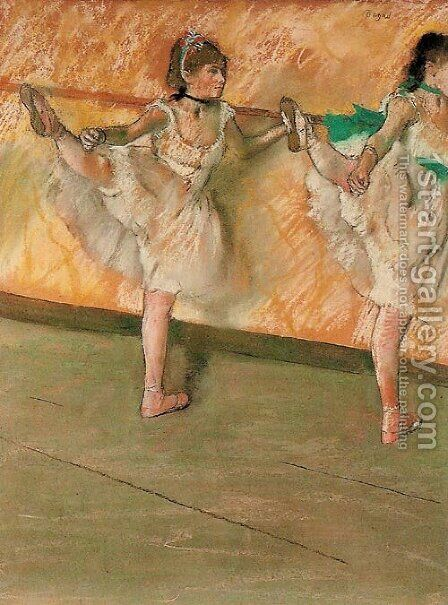 Dancers at the bar by Edgar Degas - Reproduction Oil Painting