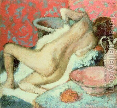 Woman drying herself 4 by Edgar Degas - Reproduction Oil Painting