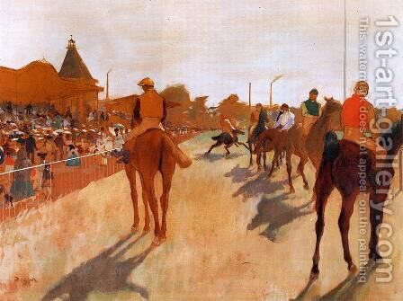 The Parade, or Race Horses in front of the Stands, c.1866-68 by Edgar Degas - Reproduction Oil Painting