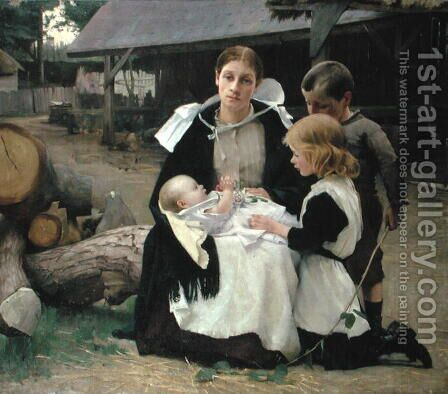 The New Baby, c.1886-88 by Alexander Mann - Reproduction Oil Painting