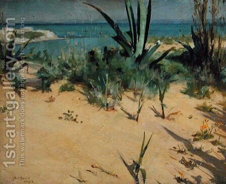 Sand Dunes, Tangier, 1892 by Alexander Mann - Reproduction Oil Painting