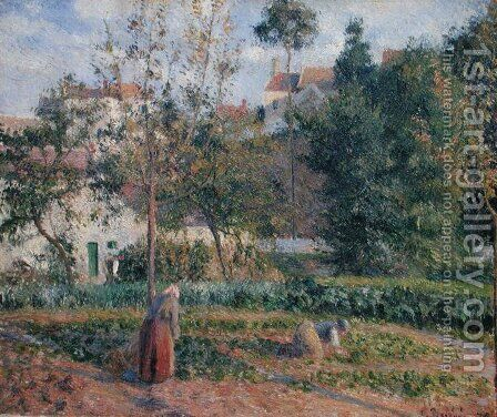 Vegetable Garden at the Hermitage, Pontoise, 1879 by Camille Pissarro - Reproduction Oil Painting