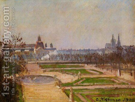 The Tuileries and the Louvre, 1900 by Camille Pissarro - Reproduction Oil Painting