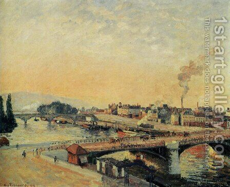 Sunrise at Rouen, 1898 by Camille Pissarro - Reproduction Oil Painting