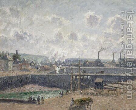 Low Tide at Duquesne Docks, Dieppe, 1902 by Camille Pissarro - Reproduction Oil Painting