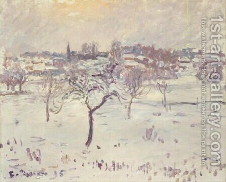 Snowy Landscape at Eragny with an Apple Tree, 1895 by Camille Pissarro - Reproduction Oil Painting