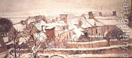 Winter, 1872 by Camille Pissarro - Reproduction Oil Painting