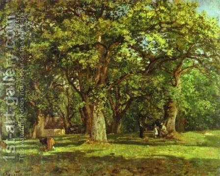 The Forest, 1870 by Camille Pissarro - Reproduction Oil Painting