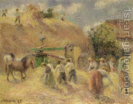 The Harvest, 1883 by Camille Pissarro - Reproduction Oil Painting