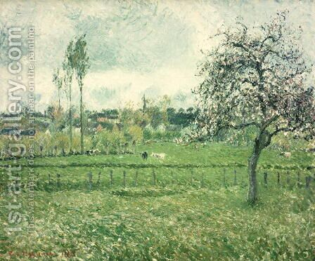 Meadow at Eragny, 1885 by Camille Pissarro - Reproduction Oil Painting
