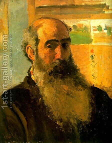 Self Portrait, 1873 by Camille Pissarro - Reproduction Oil Painting