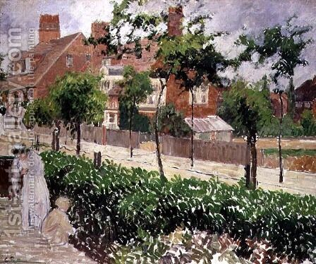 Bedford Park, Bath Road, London by Camille Pissarro - Reproduction Oil Painting