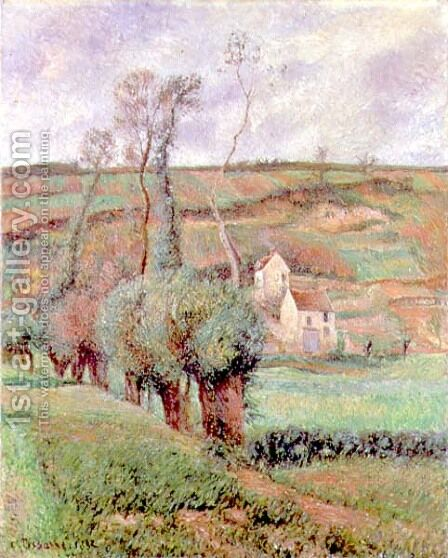 The Cote de Chou at Pontoise, 1882 by Camille Pissarro - Reproduction Oil Painting