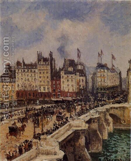 The Pont Neuf, 1901 by Camille Pissarro - Reproduction Oil Painting