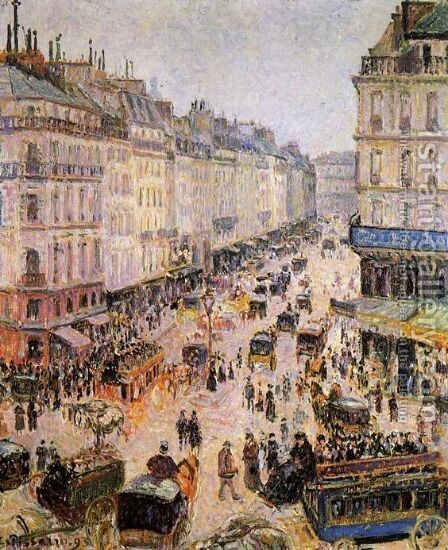 Rue de l'Epicerie, Rouen, on a Sunny Afternoon, 1893 by Camille Pissarro - Reproduction Oil Painting