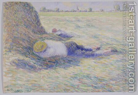 Midday Rest, 1887 by Camille Pissarro - Reproduction Oil Painting