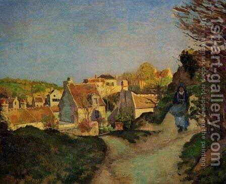 The Hill at Jallais, Pontoise, 1875 by Camille Pissarro - Reproduction Oil Painting