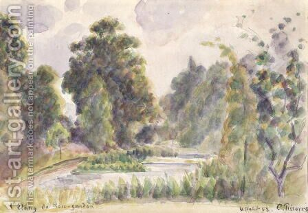 Pond at Kew Gardens, 1892 by Camille Pissarro - Reproduction Oil Painting