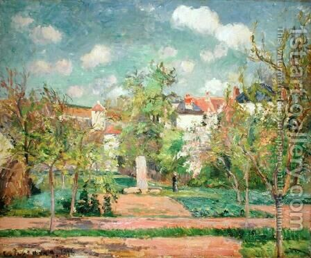 Garden, c.1876 by Camille Pissarro - Reproduction Oil Painting
