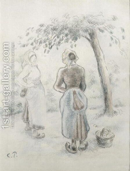 The Woman under the Apple Tree, c. 1896 by Camille Pissarro - Reproduction Oil Painting