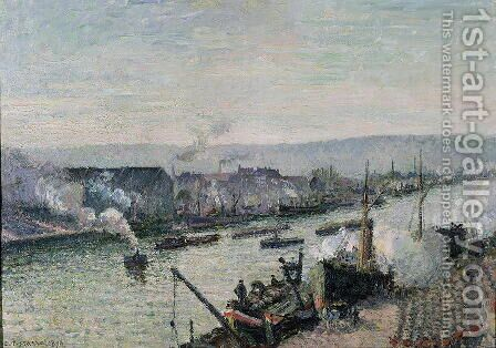 Saint-Sever Port, Rouen, 1896 by Camille Pissarro - Reproduction Oil Painting