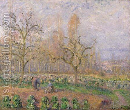 Orchard at Pontoise, 1878 by Camille Pissarro - Reproduction Oil Painting