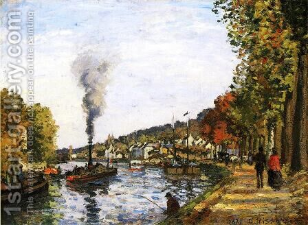 The Seine at Marly, 1871 by Camille Pissarro - Reproduction Oil Painting