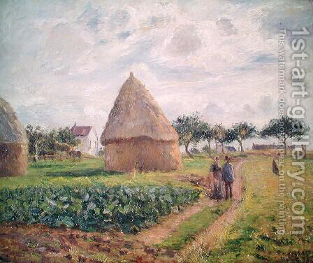Haystacks by Camille Pissarro - Reproduction Oil Painting