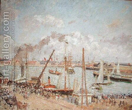 The Port of Le Havre, Afternoon, Sun, 1903 by Camille Pissarro - Reproduction Oil Painting