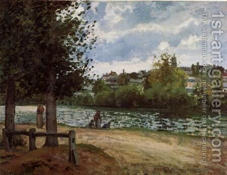 The Banks of the Oise at Pontoise, 1870 by Camille Pissarro - Reproduction Oil Painting