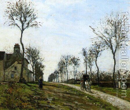 Road in Louveciennes, 1870 by Camille Pissarro - Reproduction Oil Painting