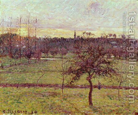 Landscape at Eragny, 1894 by Camille Pissarro - Reproduction Oil Painting