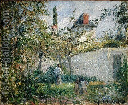 Kitchen Garden and Orchard, Pontoise, 1878 by Camille Pissarro - Reproduction Oil Painting
