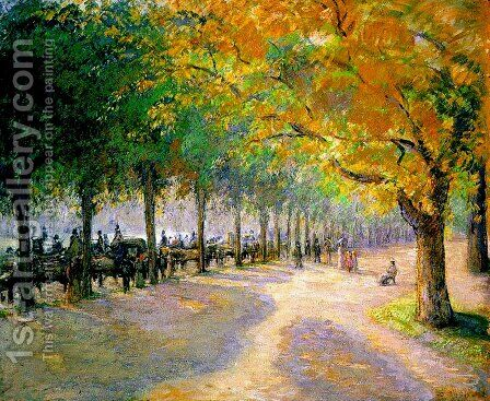 Hyde Park, London, 1890 by Camille Pissarro - Reproduction Oil Painting