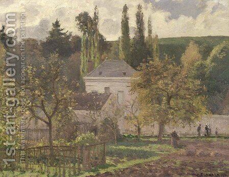 House in the Hermitage, Pontoise, 1873 by Camille Pissarro - Reproduction Oil Painting