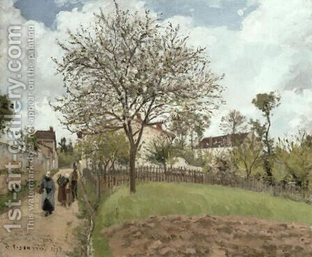 Landscape in Louveciennes, 1870 by Camille Pissarro - Reproduction Oil Painting