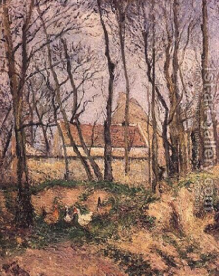 The Path of the Wretched, 1878 by Camille Pissarro - Reproduction Oil Painting
