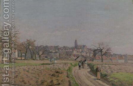 View of Pontoise, 1873 (2) by Camille Pissarro - Reproduction Oil Painting