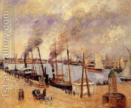The Port of Le Havre by Camille Pissarro - Reproduction Oil Painting