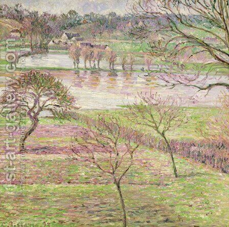 The Flood at Eragny, 1893 by Camille Pissarro - Reproduction Oil Painting
