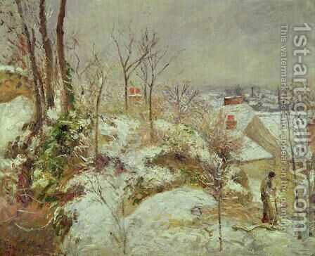 Snow Scene by Camille Pissarro - Reproduction Oil Painting