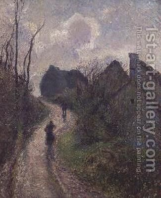 Road climbing to Osny, 1883 by Camille Pissarro - Reproduction Oil Painting