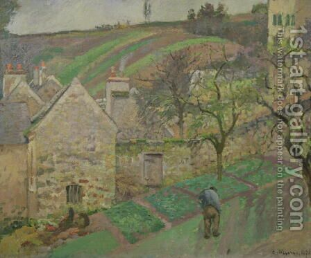 Hillside of the Hermitage, Pontoise, 1873 by Camille Pissarro - Reproduction Oil Painting