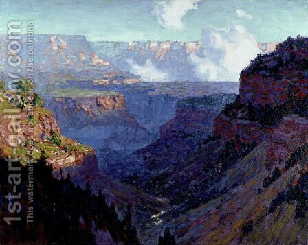 Looking Across the Grand Canyon, c.1910 by Edward Henry Potthast - Reproduction Oil Painting