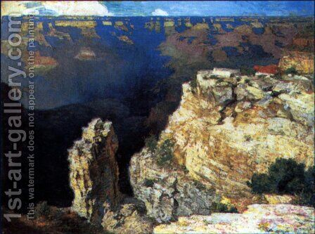 The Grand Canyon by Edward Henry Potthast - Reproduction Oil Painting