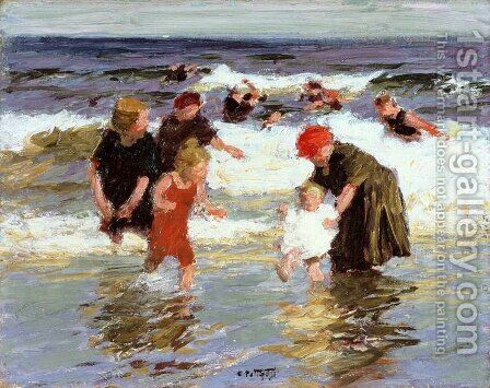 Bathers, c.1913 by Edward Henry Potthast - Reproduction Oil Painting
