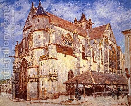 The Church at Moret, Evening, 1894 by Alfred Sisley - Reproduction Oil Painting