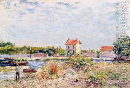 The Loing at Saint-Mammes, 1885 by Alfred Sisley - Reproduction Oil Painting