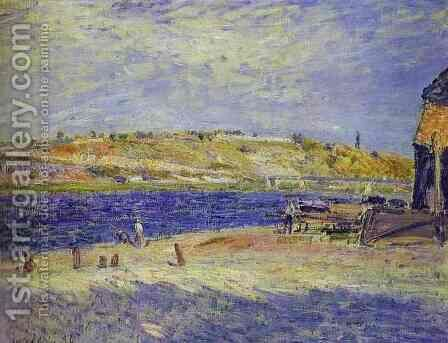 River Banks at Saint-Mammes, 1884 by Alfred Sisley - Reproduction Oil Painting