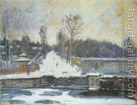 The Watering Place at Marly-le-Roi, 1875 by Alfred Sisley - Reproduction Oil Painting